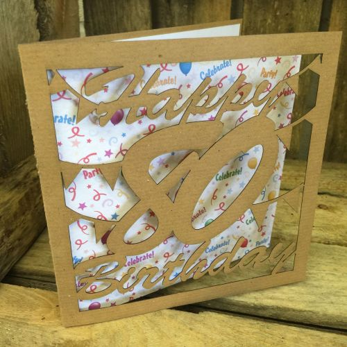 Laser cut greeting card  80