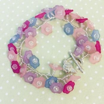 lucite flower bracelet flora