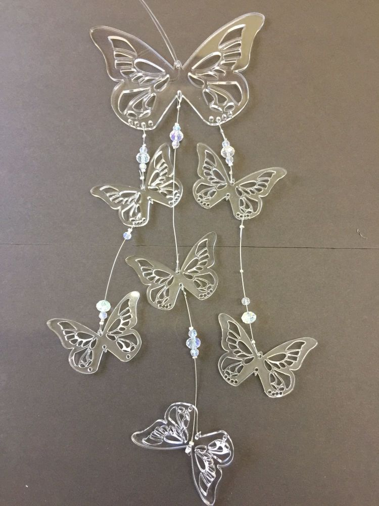 Acrylic butterfly mobile kit