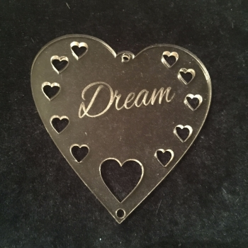 Acrylic word hanger 'Dream' hanger