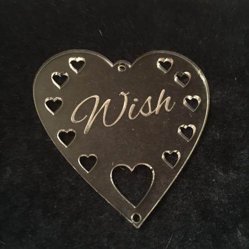 Acrylic word hanger Wish hanger
