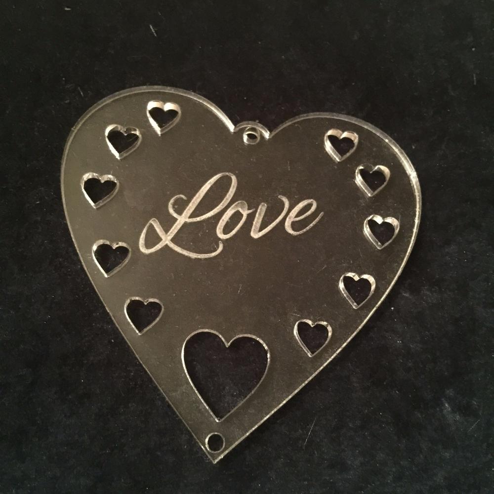 Acrylic word hanger Love hanger