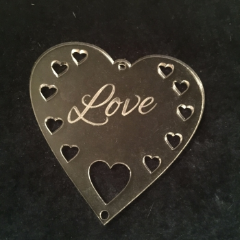 Acrylic word hanger 'Love' hanger