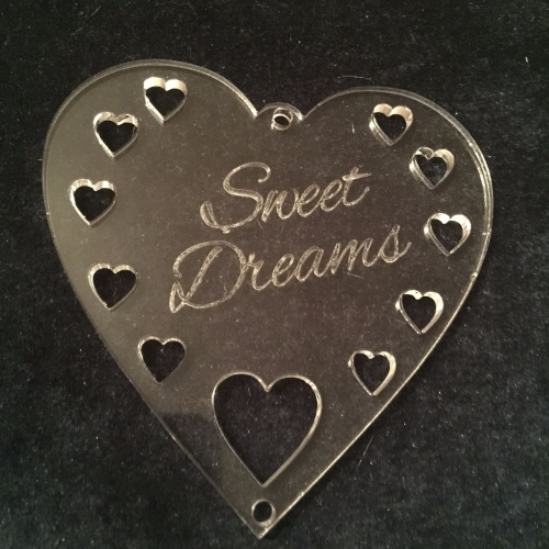 Acrylic word hanger 'Sweet Dreams' hanger