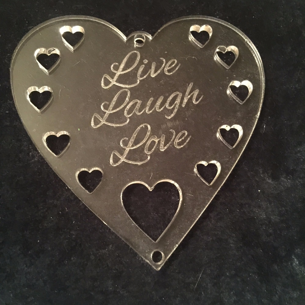 Acrylic word hanger 'Live Laugh Love' hanger