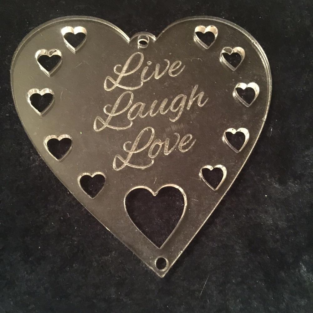 Acrylic word hanger 'Live Laugh Love' hanger