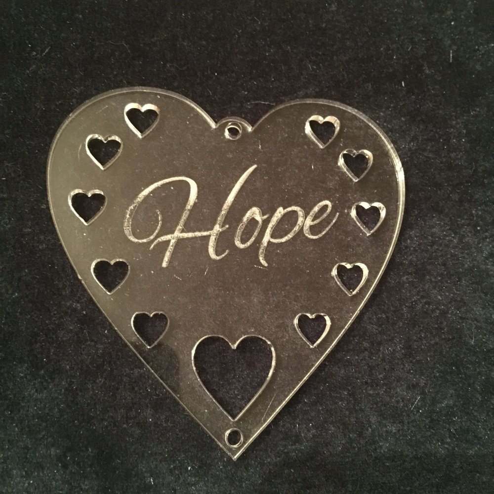 Acrylic word hanger 'Hope' hanger