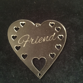 Perspex hanger 'Friend'