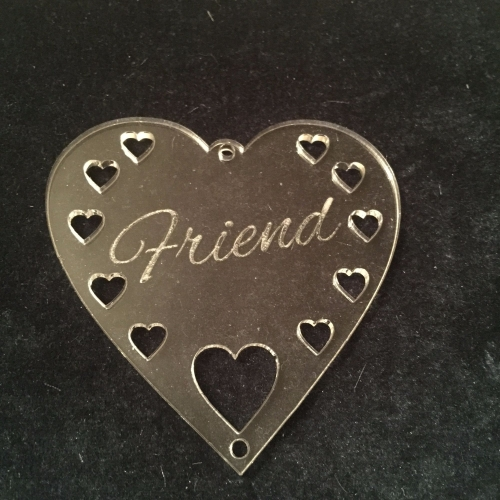 Acrylic word hanger 'Friend' hanger
