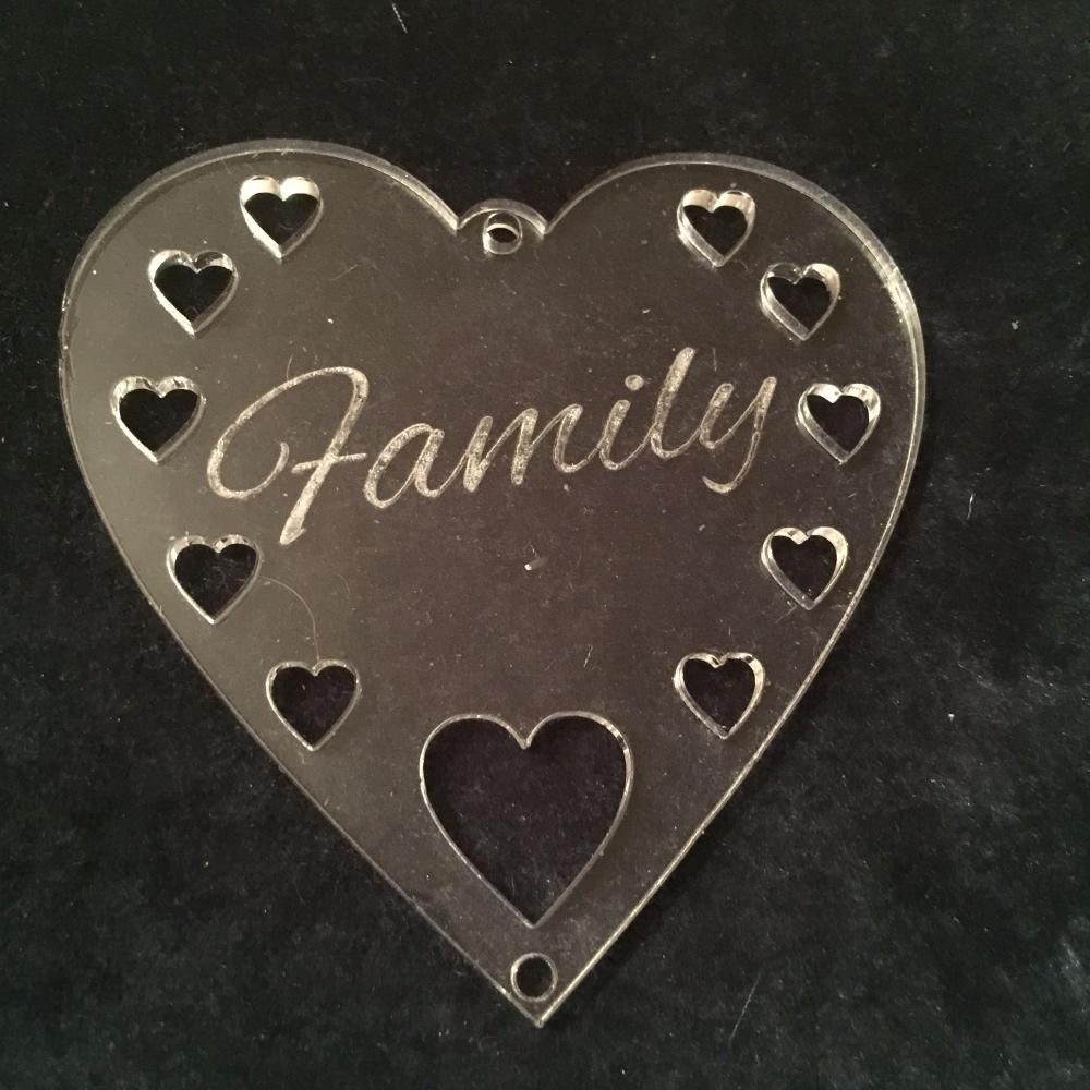 Acrylic word hanger 'Family' hanger