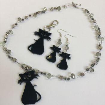 Acrylic cat necklace