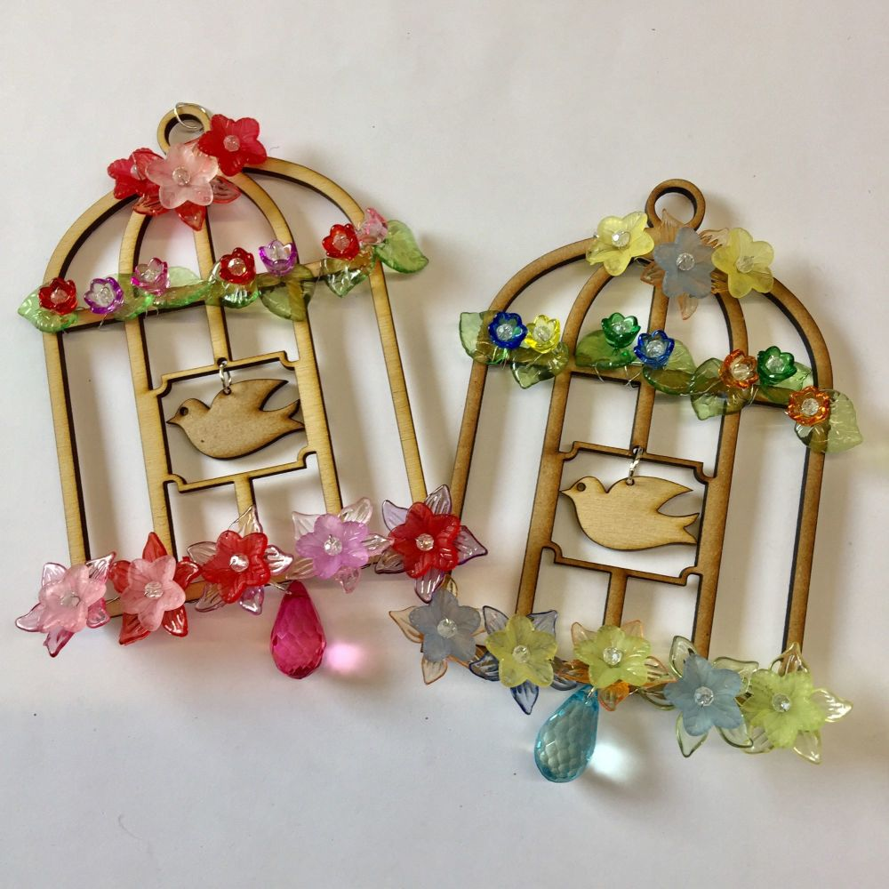 Beaded bird cage kit