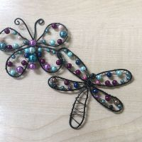 Wire Designer- Dragonfly and Butterfly