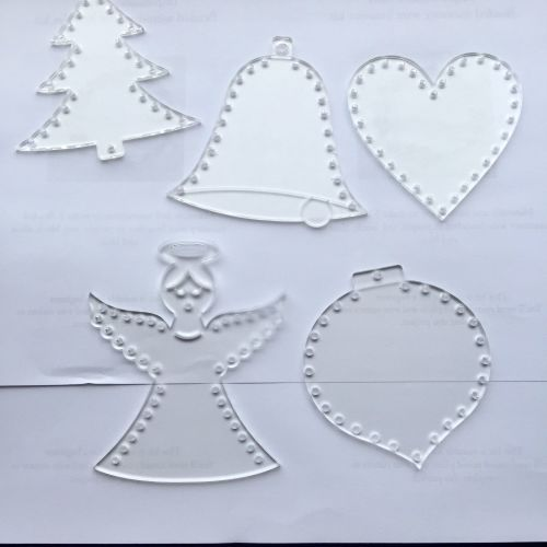 Acrylic lasercut form with holes for decorating set