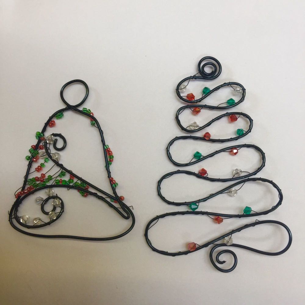 Wire designer tree and bell