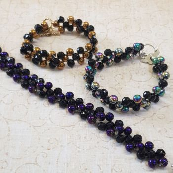 Beaded electroplated bracelets