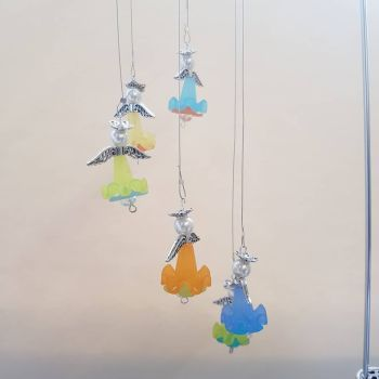 Frilly beaded angel hanger kit