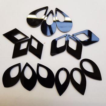 Perspex pendants ovals and diamonds