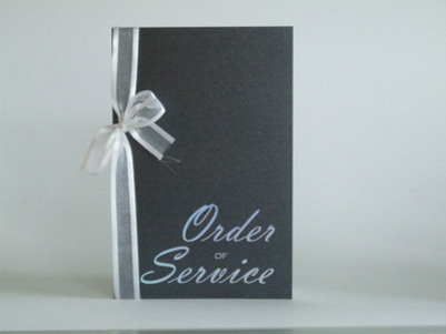 VC3 Order Of Service Silver Holographic on Black Pearlescent Card