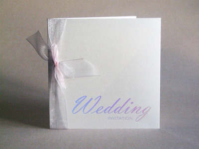VA1 Vienna Wedding Invitation Silver Holographic on Quartz Pearlescent Card
