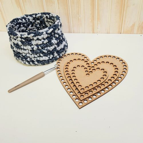 Wooden base for crochet - Ovals