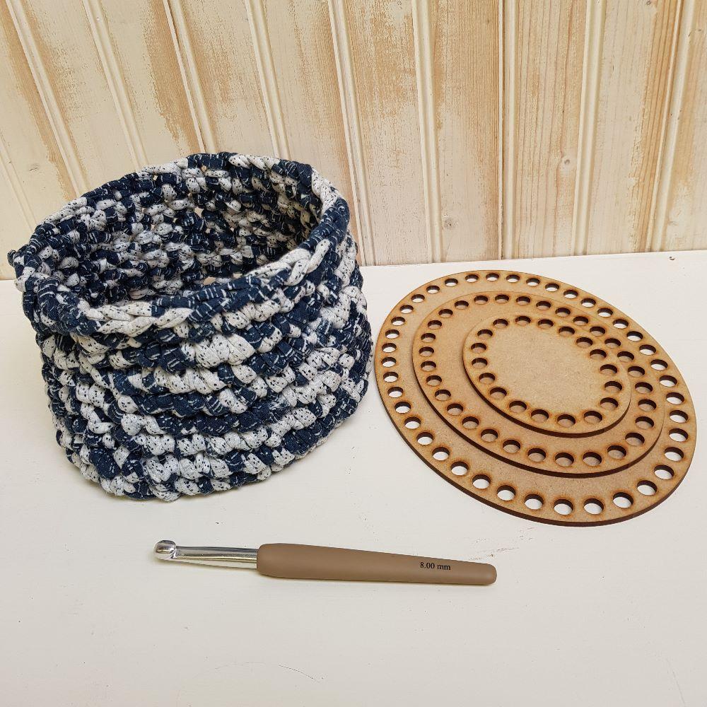 Wooden crochet bases