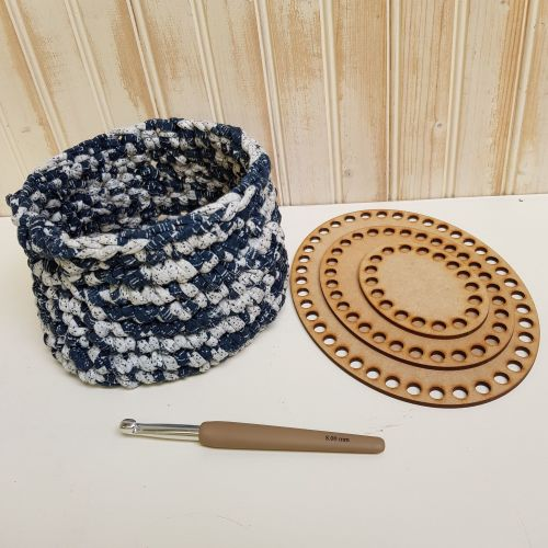 Wooden base for crochet - circles