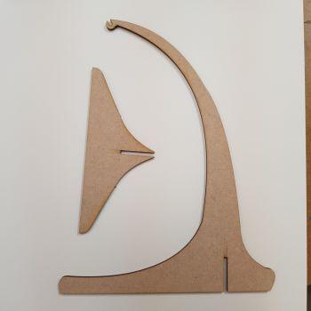 Wooden beading hanger