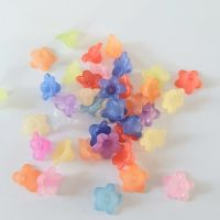 Flowers 'Lucite' Frosted Size 10mm mixed colours