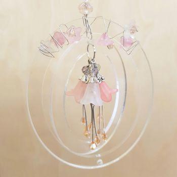 Beaded bell flower hanger