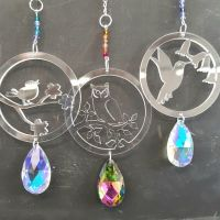 C1 Crystal bird hangers