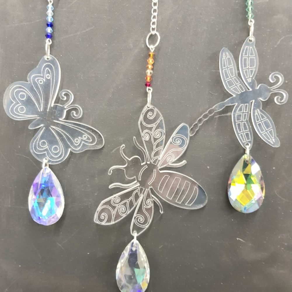 Crystal Bug hangers