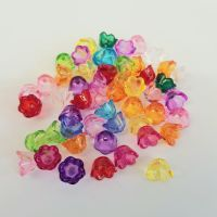 F7 Flowers 50 'Lucite' Acrylic Beads, Frosted mixed