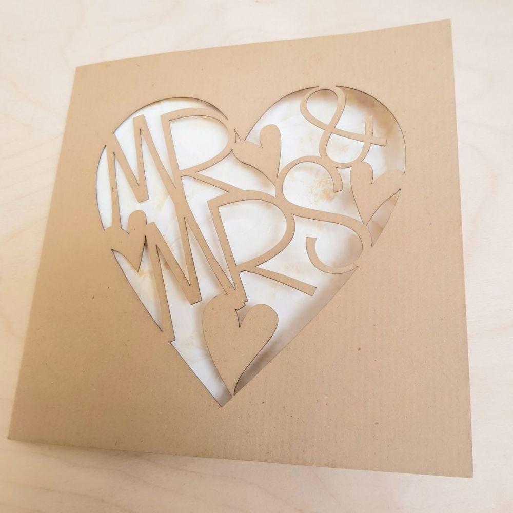 Mr & Mrs wedding invitation card