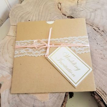 Rustic pocket invite