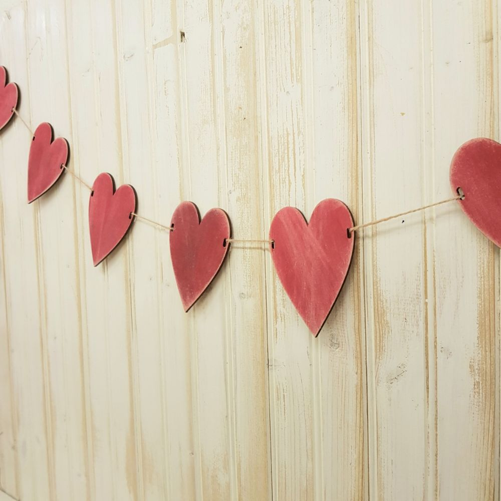 Heart bunting kit