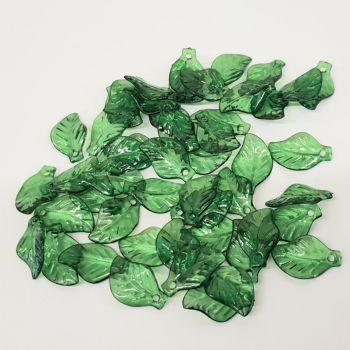L3 Green transparent leaf/pendant beads