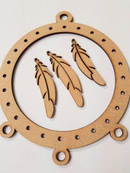 Wooden dreamcatcher loom