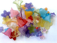 BEADS-Flowers 'Lucite'