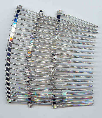 Silver colour hair comb 77mm