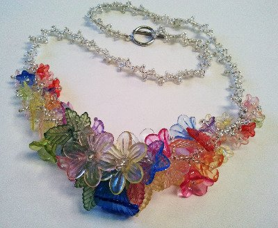'Lucite' Flower Necklace