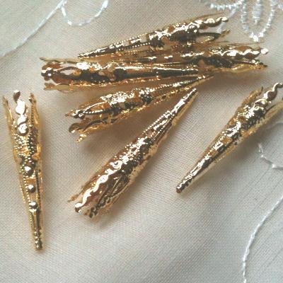 GOLD COLOUR BEAD CAPS/CONES FLOWER 41mm