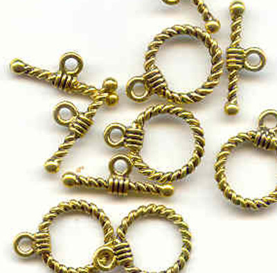 Antique Golden colour Toggle:clasps 19mm x 14mm,