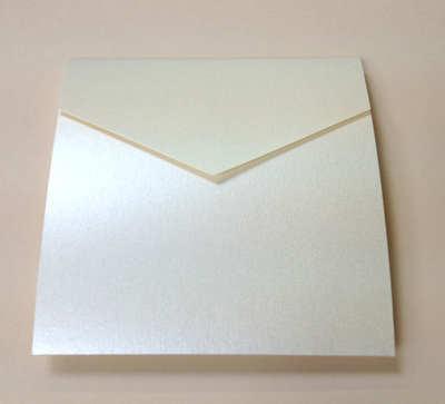 Square pocket invitation portrait