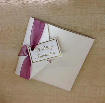 Square pocket Invitation
