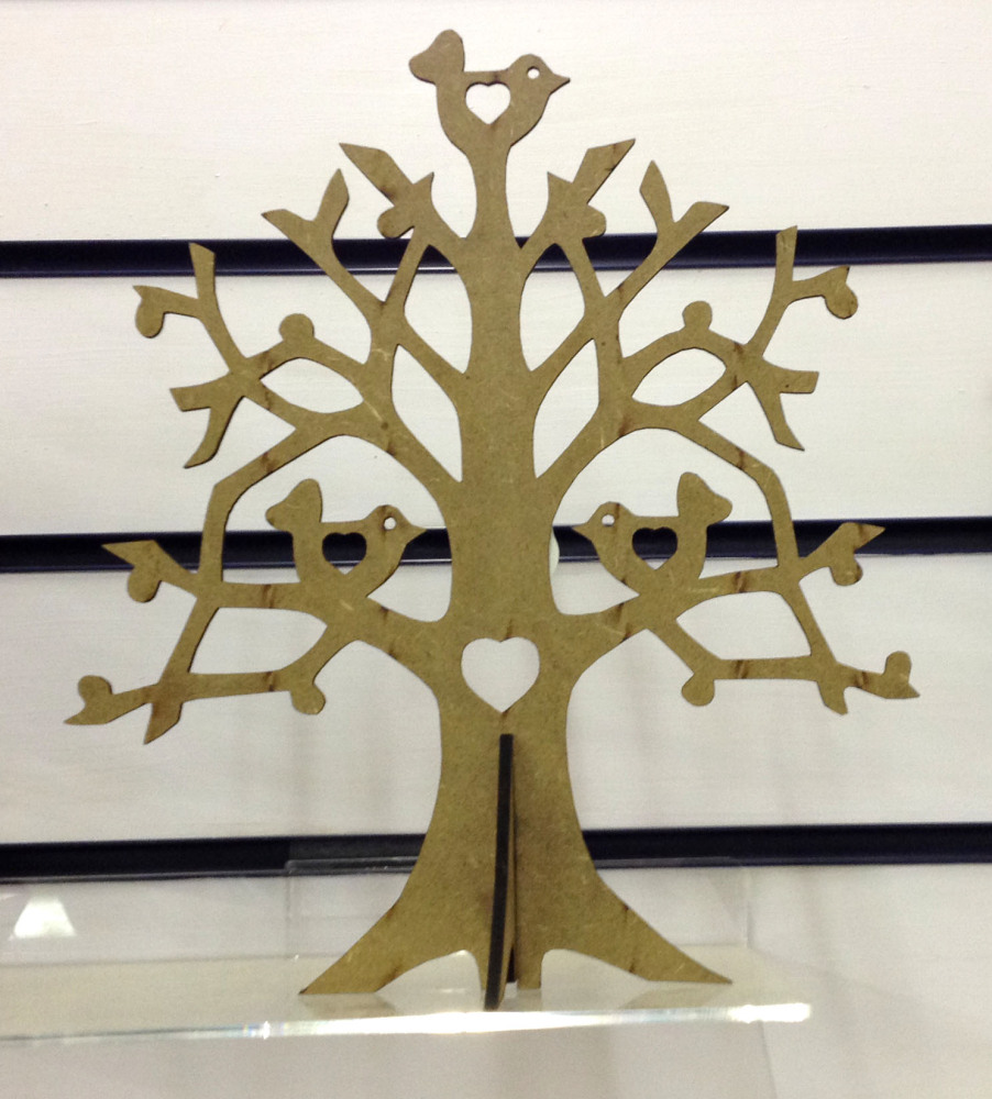 Laser cut bird tree