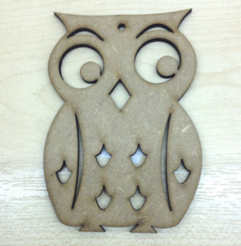Owl laser cut shape