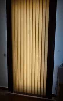 Vertical Blinds chocolate and cream