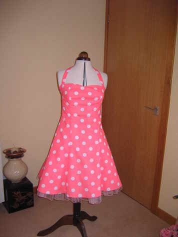 summer dress polka dot pink