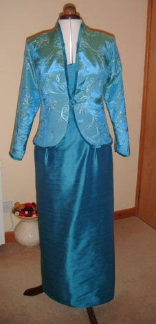 turquise evening dress